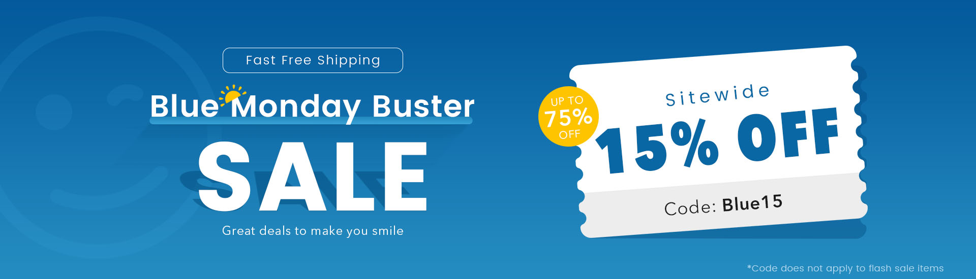 Blue Monday Buster Sale