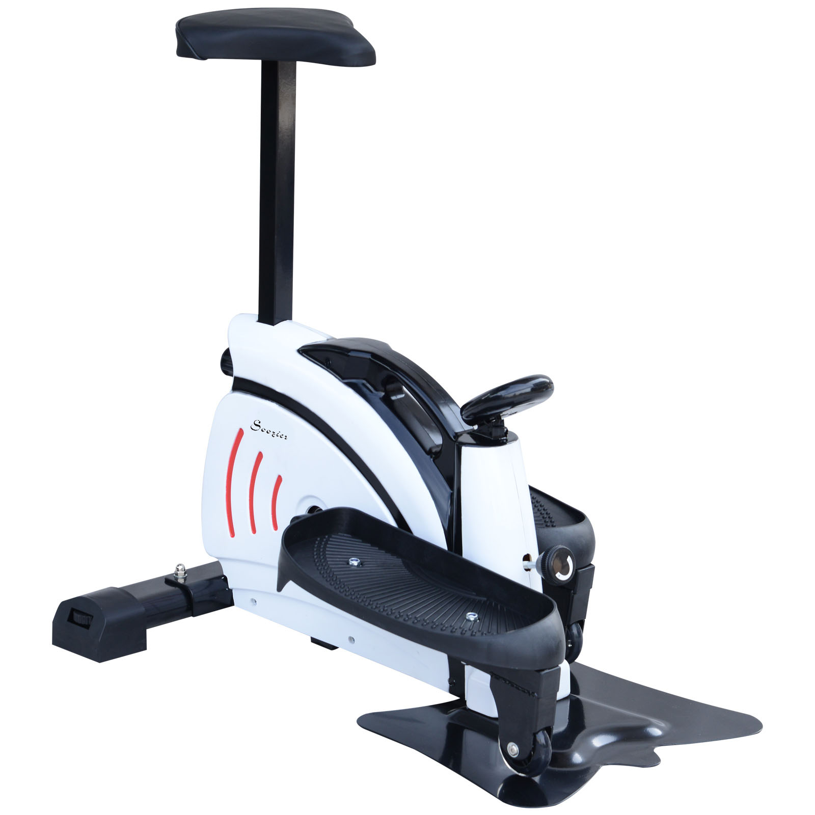 Image of CAD $119.99 Soozier Mini Elliptical Machine w/ Display Monitor / Stepper with Removable Seat Multi-function Pedal Equipment Fitness Trainer Adjustable Resistance Under-desk Canada 95509793812