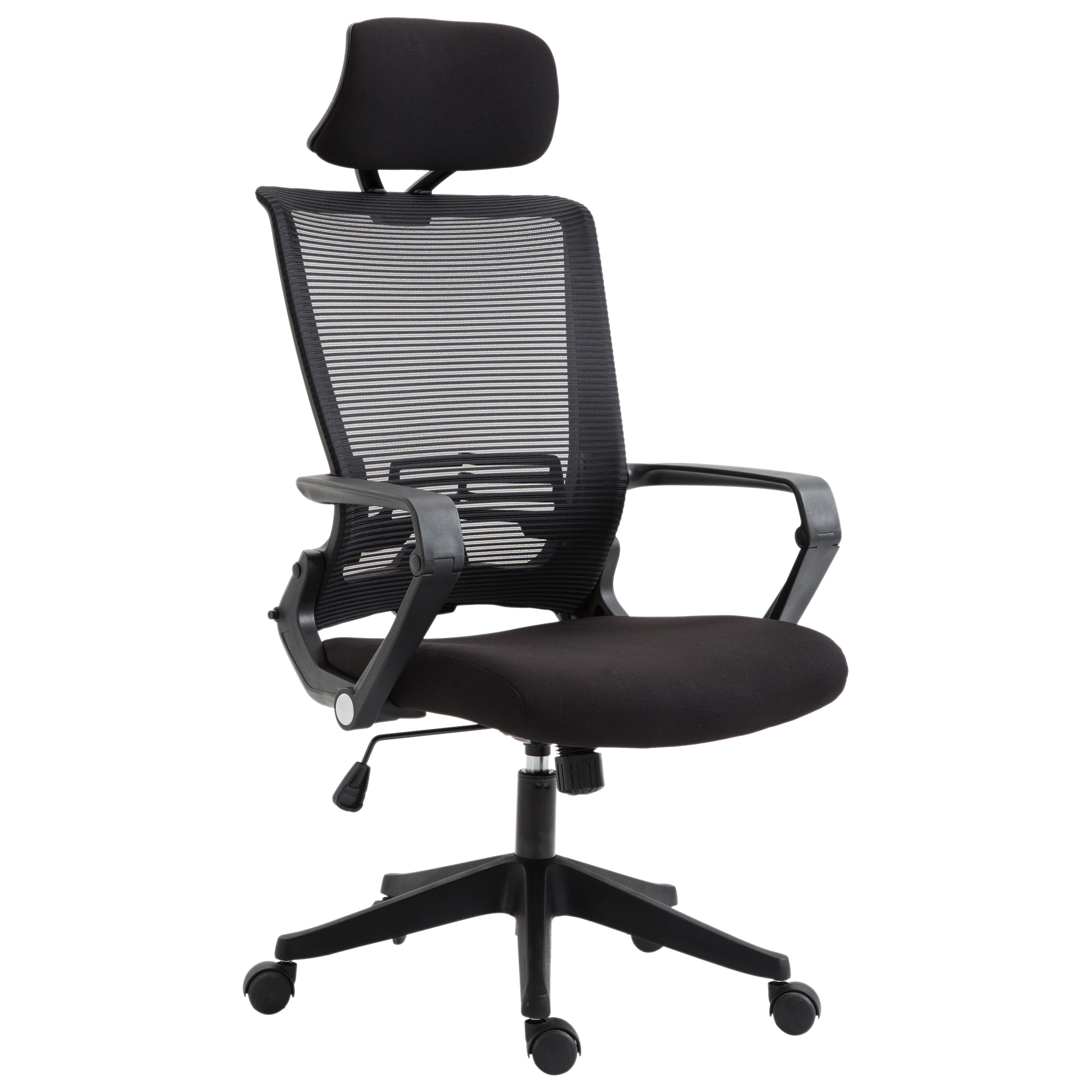 Image of CAD $169.99 Vinsetto High Back Mesh Office Chair with Headrest Black / Ergonomic Executive Computer Seat Lumbar Support Task Canada 95509802583