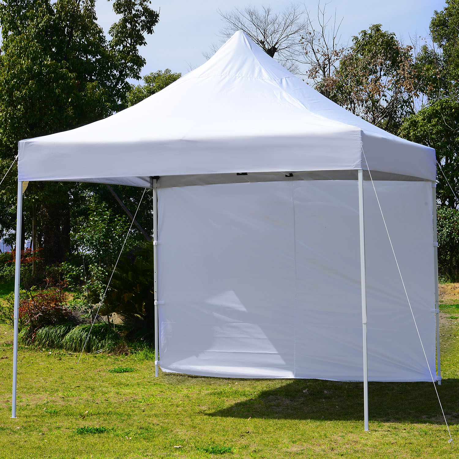 Image of CAD $149.99 Outsunny 9.7x9.7ft Pop Up Canopy Tent Instant Commercial Gazebo Portable Foldable Outdoor Shelter with Wall Panel / Party w/ Canada 95509792235