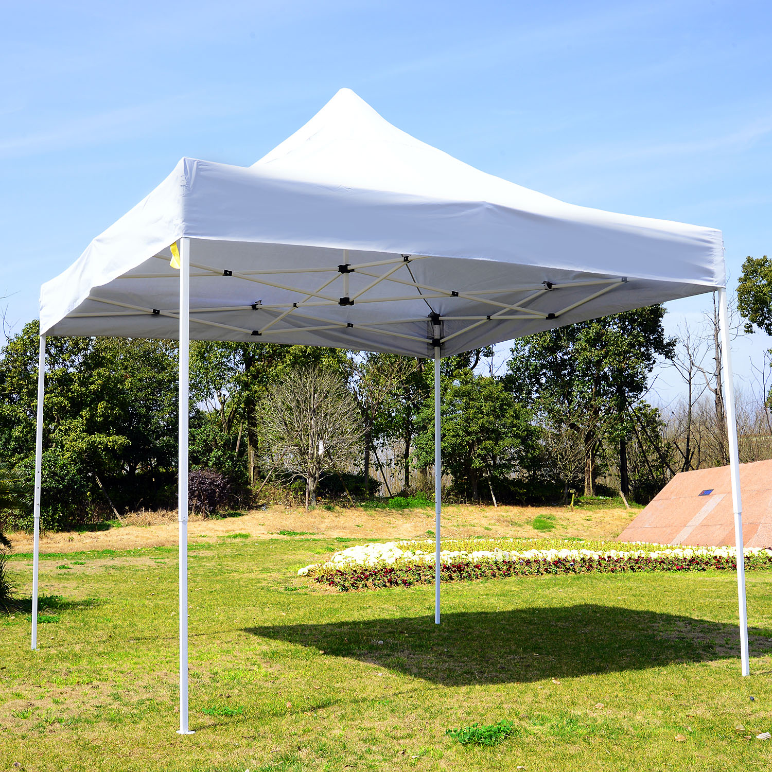Image of CAD $89.99 Outsunny 9.7x9.7ft Pop Up Tent Instant Outdoor Shelter Foldable Portable Sunshade with Carrying Bag / CLEARANCE Canopy Party Wedding w/ Canada 95509799630