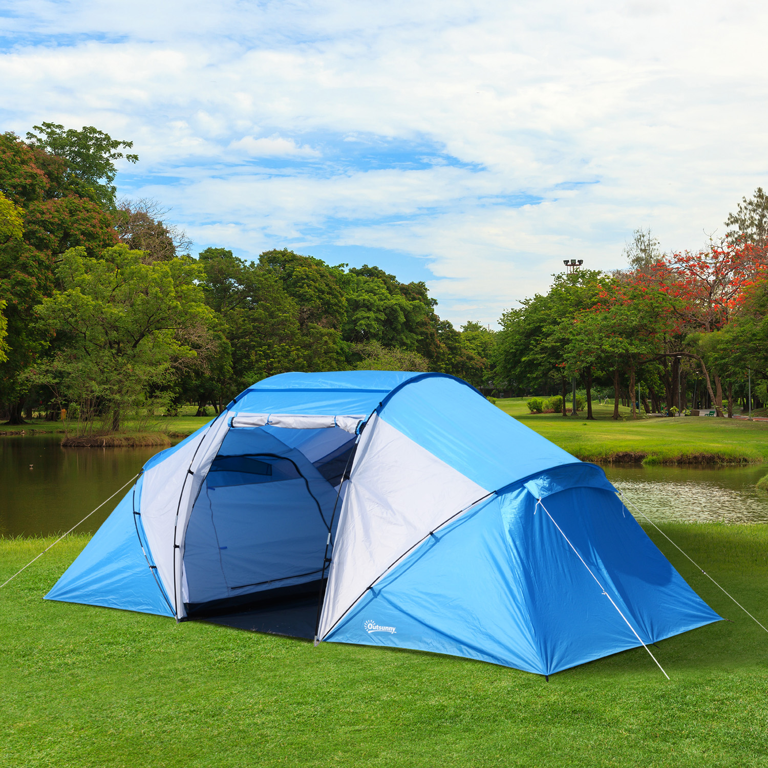 6-Person Instant Tent Outdoor Cabin Waterproof Family Dome Portable Camp Shelter