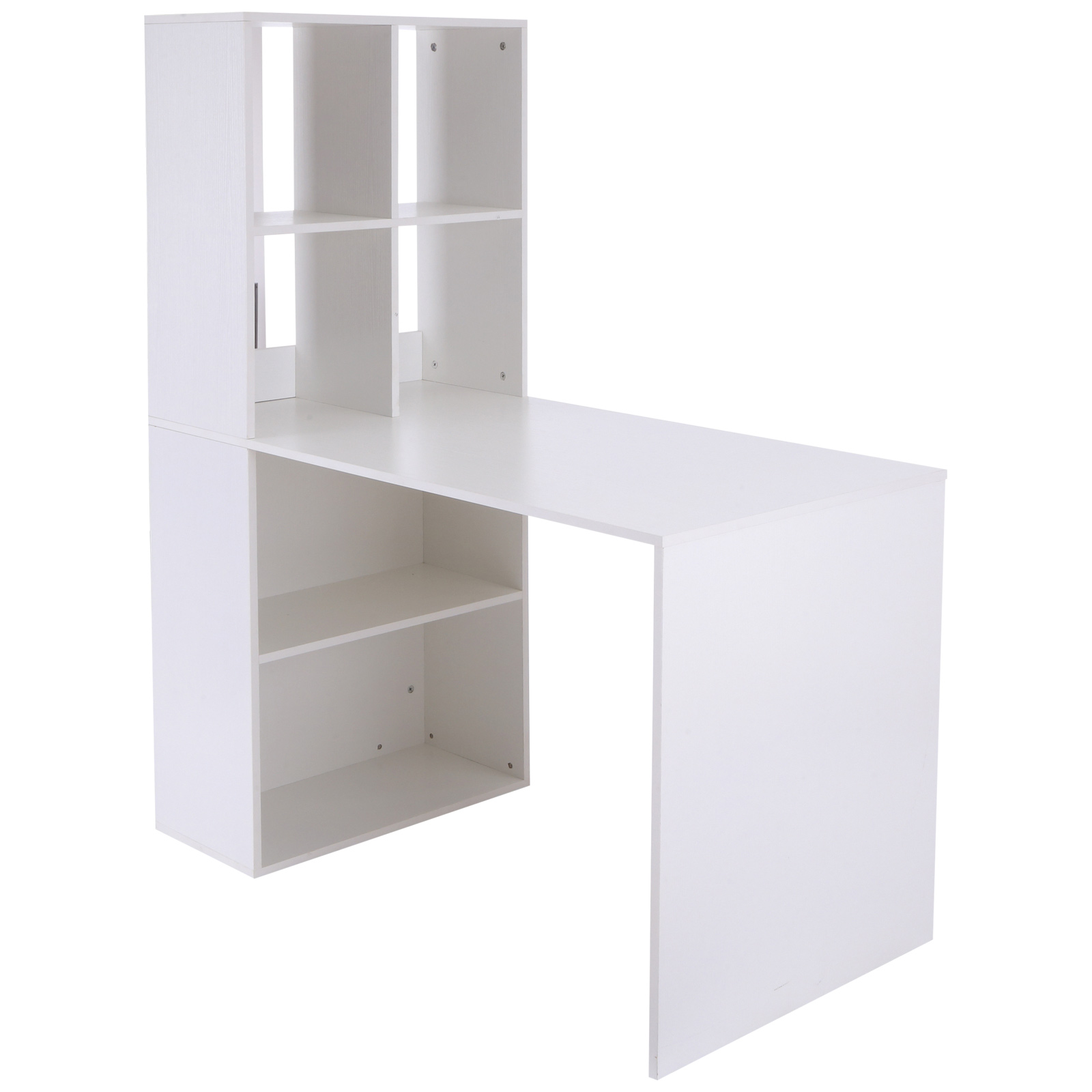 Image of CAD $169.99 Vinsetto Computer Desk Space Saving White / Writing Workstation with Storage Shelf PC Laptop and Display Design Write Canada 95509793430
