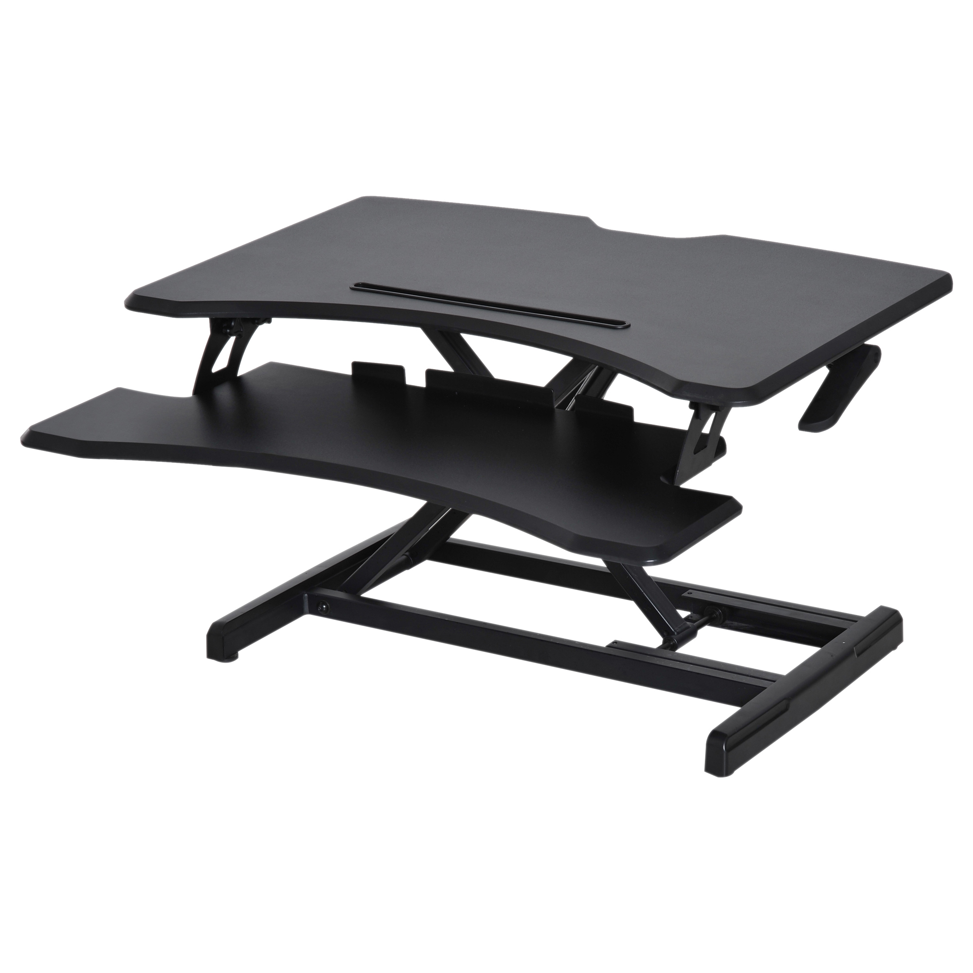 Image of CAD $179.99 Vinsetto Height Adjustable Standing Desk Tabletop Workstation Black / Sit Stand Converter Gas Lifting Riser Elevated to Canada 95509805768