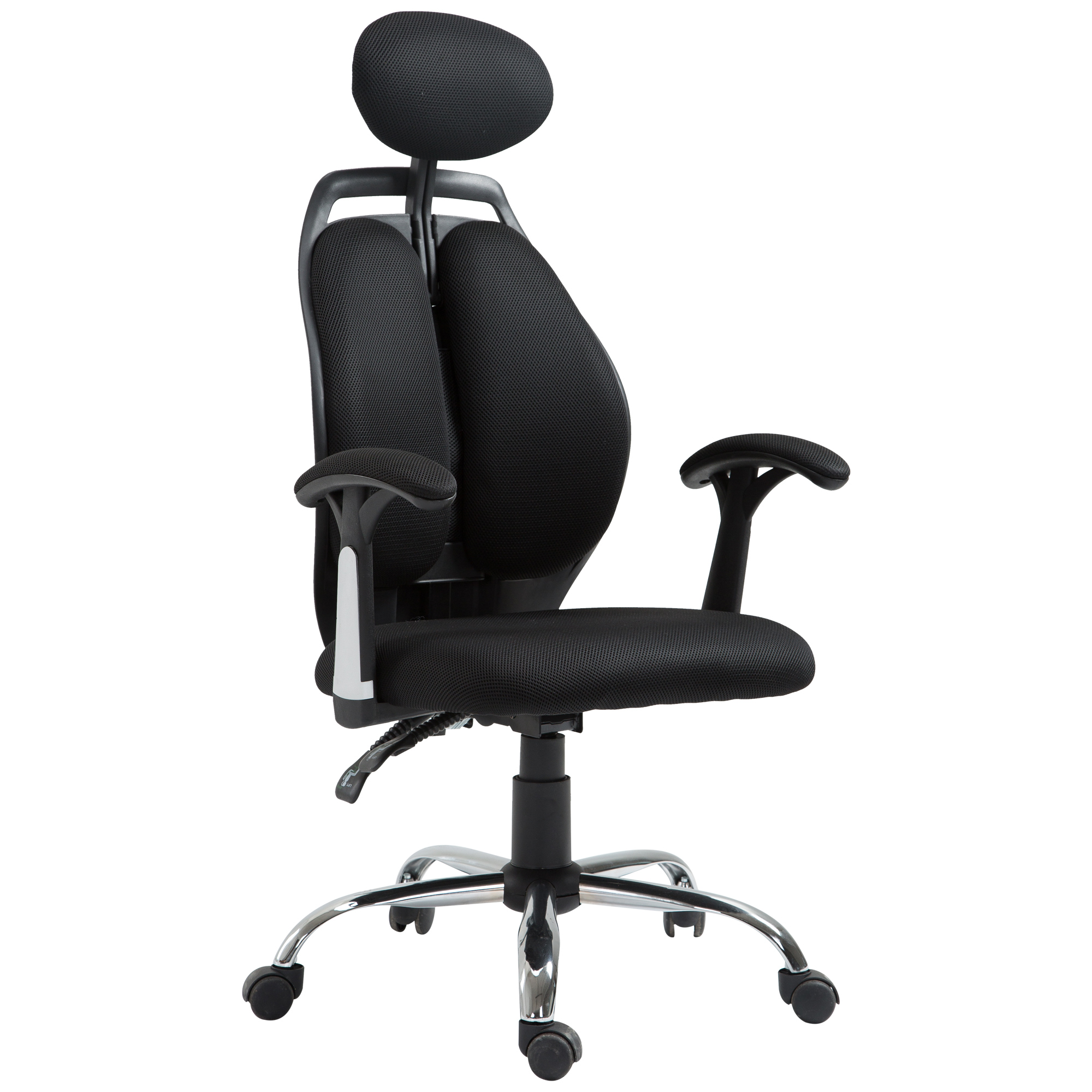 Image of CAD $139.99 Vinsetto High Back Ergonomic Mesh Office Chair Adjustable Headrest Black / Executive Computer Task with Home Seat Canada 95509793744
