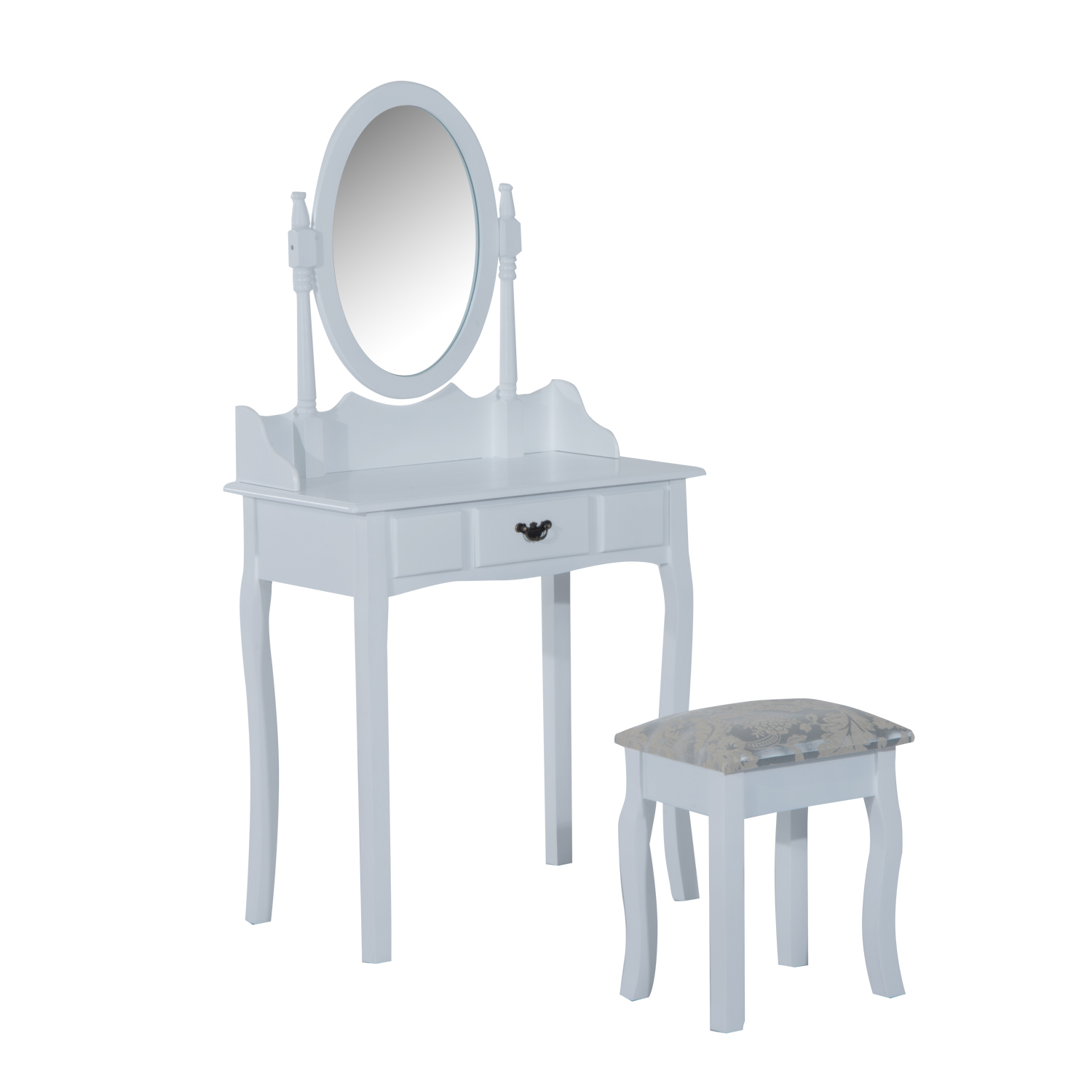 Remarkable Cad 179 99 Homcom Modern Vanity Dressing Table Stool Set Andrewgaddart Wooden Chair Designs For Living Room Andrewgaddartcom
