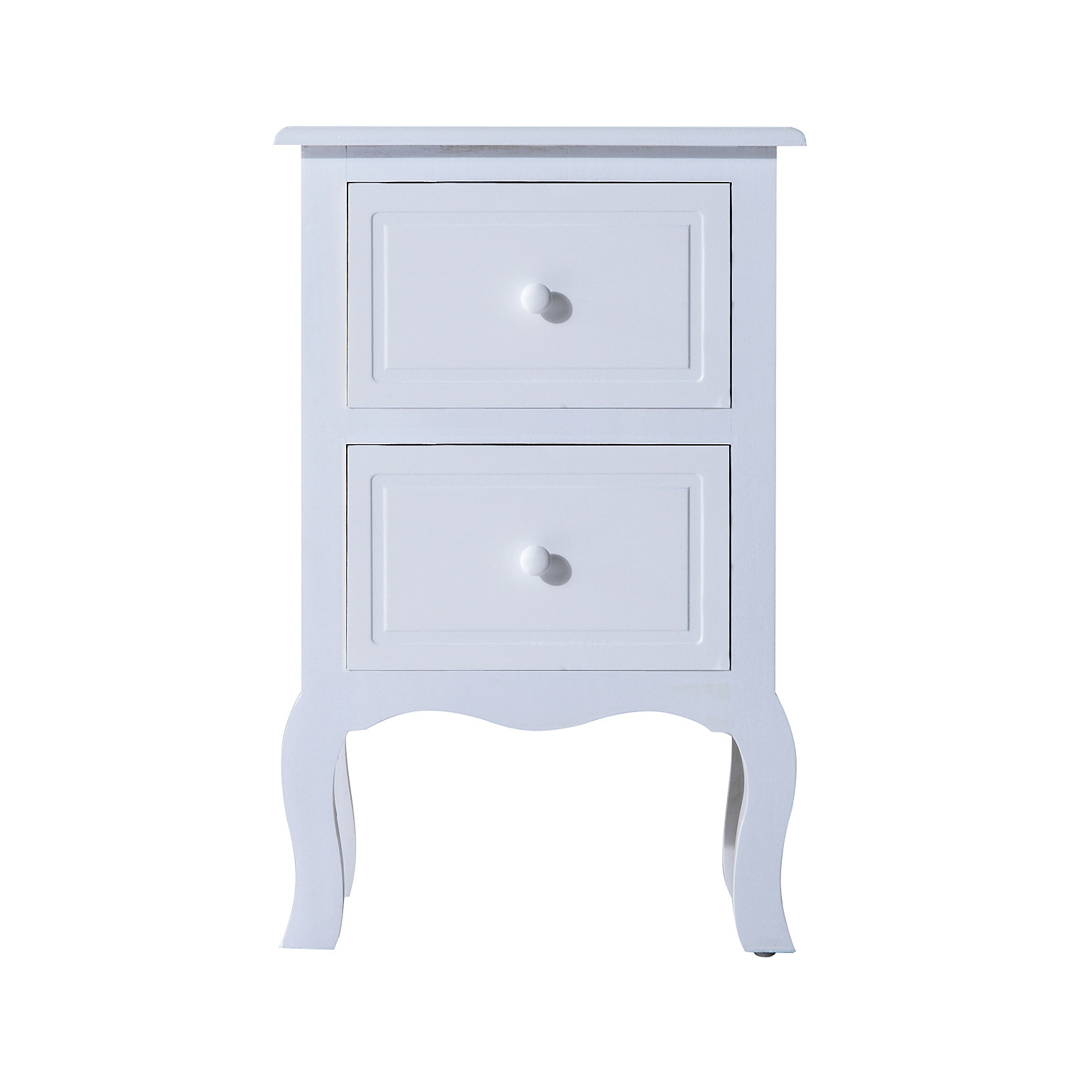 Cad 94 99 Homcom 2 Drawer Wooden Nightstand Mdf And