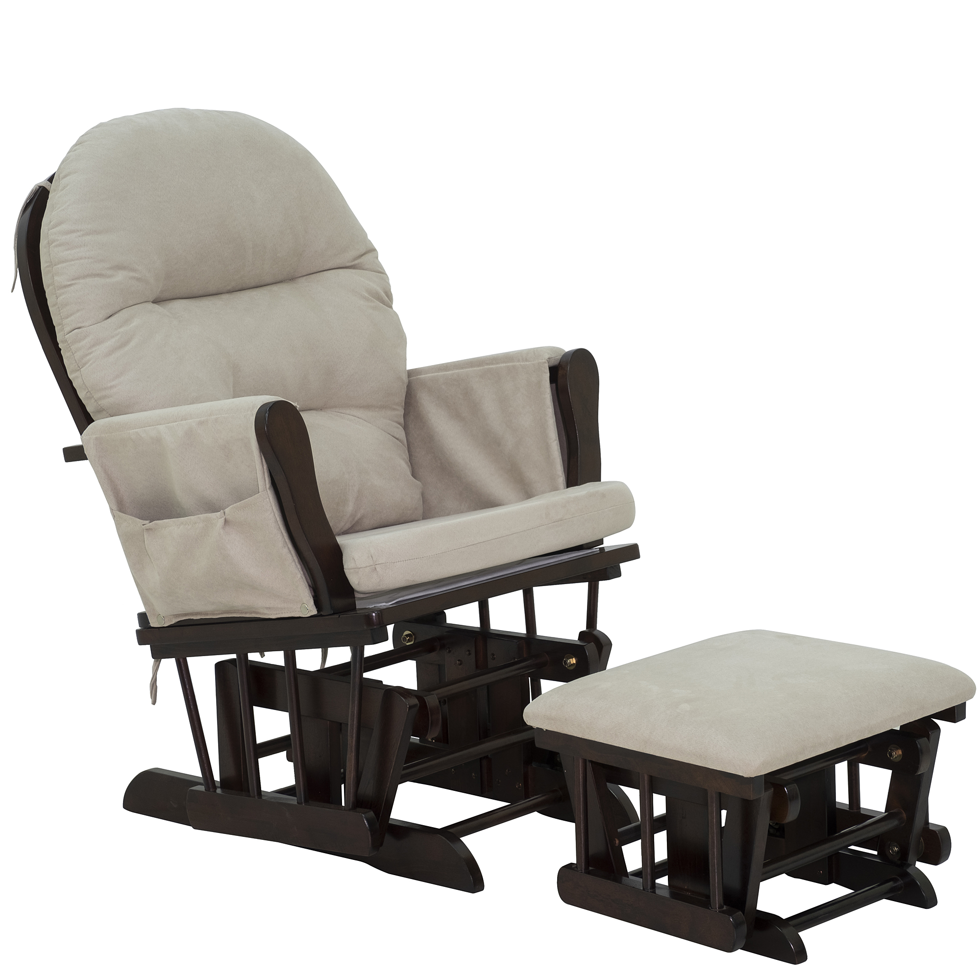 Picture of: Cad 269 99 Homcom Nursery Glider Ottoman Set Suede Living Rome Grey Wood Nursing With Cushion Rocking Chair Footrest Recline Rocker Furniture Cushioned Canada 95509802439