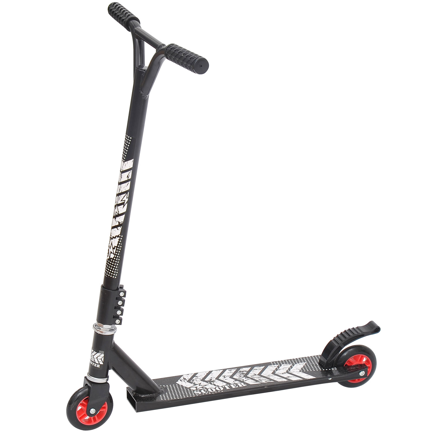 Image of CAD $59.99 HOMCOM Pro Stunt Scooter Push Street Bike Kids Children Outdoor-Black / Kick Outdoor (Black) Aluminum Fixed Bar BK Canada 24144521863