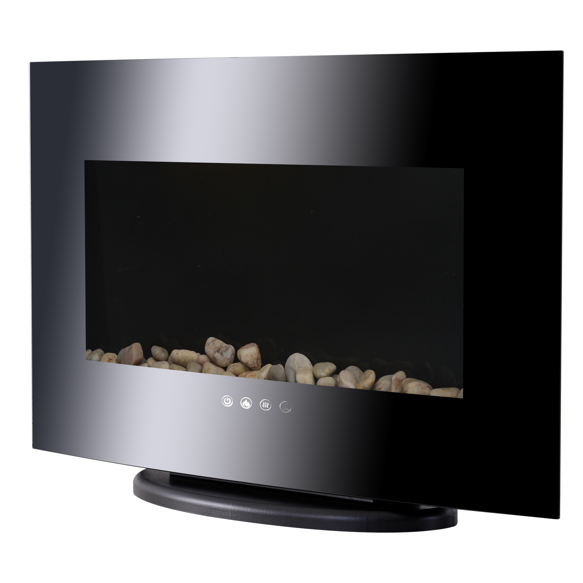 """Image of CAD $206.99 HOMCOM Wall Mounted / Free Standing Electric Fireplace 750W/1500W Black 35"""" & Room Space Adjustable Heater Stove with Remote Control Indoor Canada 95509802231"""