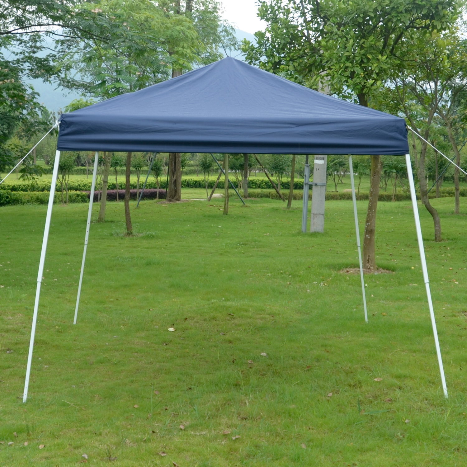Image of CAD $84.99 Outsunny 10x10ft Easy Pop-up Canopy Party Tent Sunshade Shelter w/Slant Leg Blue / Slant Patio Garden Canada 25093578953