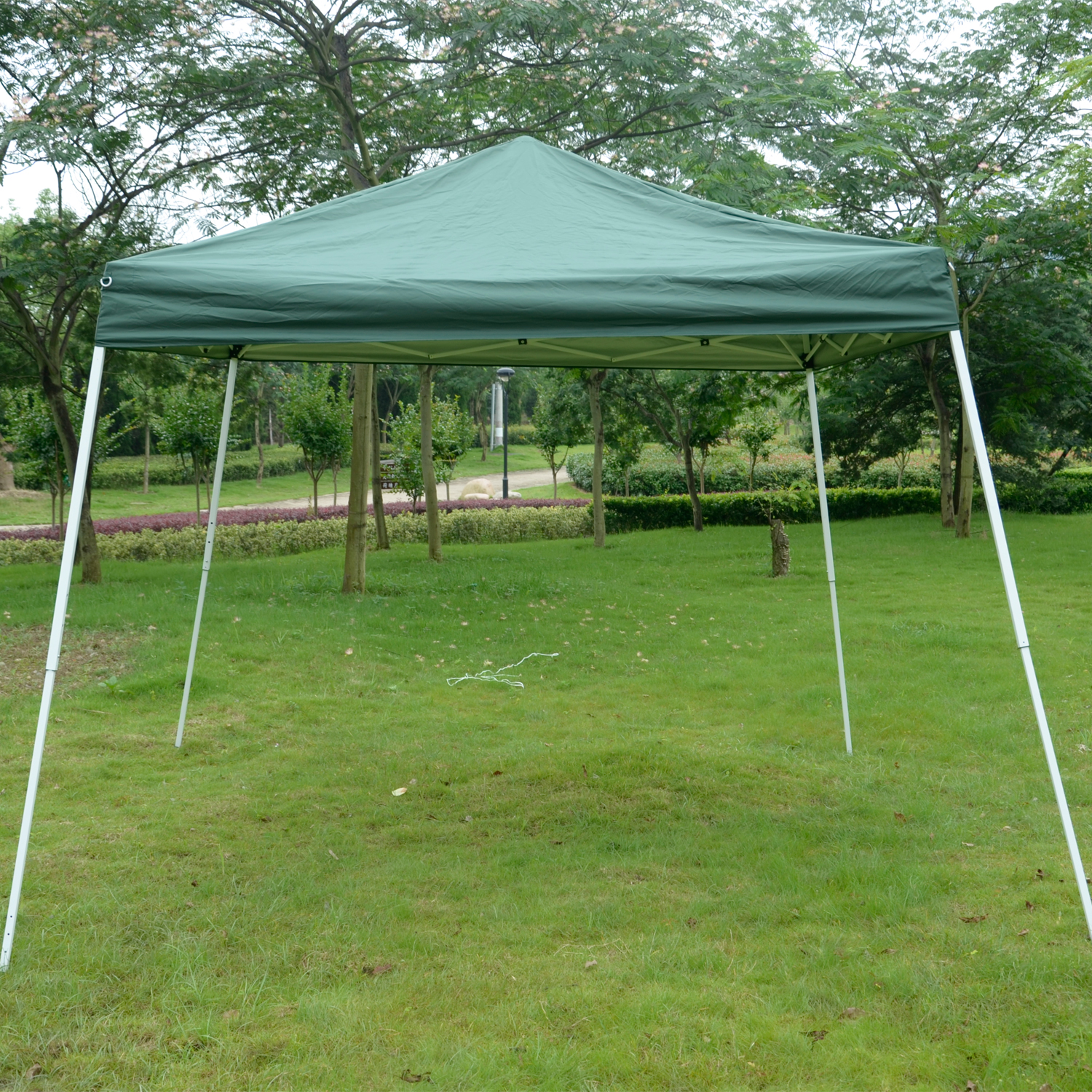 Image of CAD $89.99 Outsunny 10x10ft Easy Pop-up Canopy Party Tent Sunshade Shelter w/Slant Leg / Slant Patio Market Green Canada 25093578960